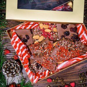 """Подарочный набор с ломаным шоколадом """"Презент"""""""