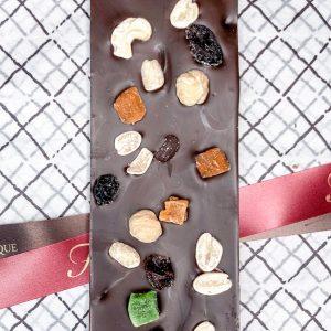 """Шоколадная плитка I LOVE CHOCO 8х из темного шоколада ручной работы с добавлением """"фитнес-смеси"""""""