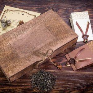 """Деревянная шкатулка """"Эксклюзив"""" с чаем на выбор"""